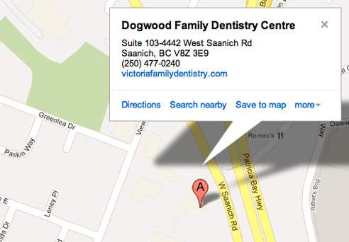 Location | Victoria Family Dentistry - Dr  Jane S  Wrinch